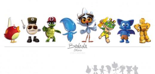 Les mascottes réalisées par Banana Studio